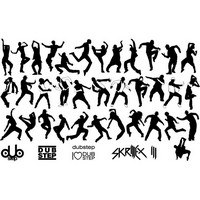 Dubstep dancer silhouette