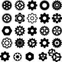 Gears silhouettes