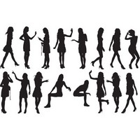 Girls silhouette