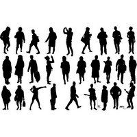 Human silhouettes