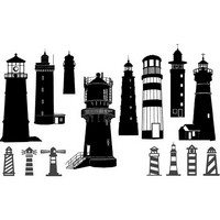 Lighthouse silhouettes