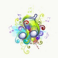 Musical abstract backgrounds