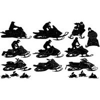 Snowmobile silhouettes