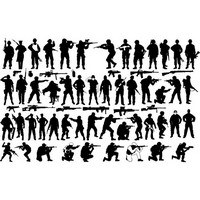 Soldier silhouettes