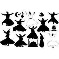 Turkey dancers silhouettes – Whirling