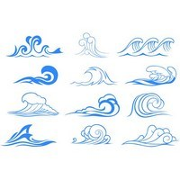 Wave graphic symbols