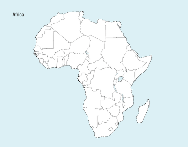 African Map Vector png