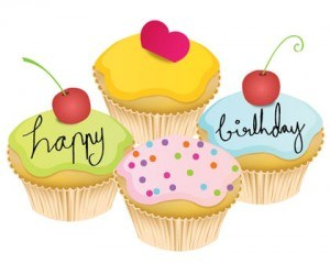 Lovely Little Birthday Cake Vector Art