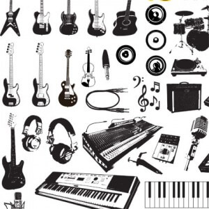 Music Instruments Graphics Vector Art