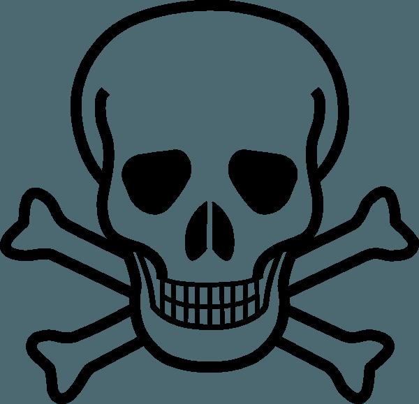 Skull and Crossbones Vector Art png
