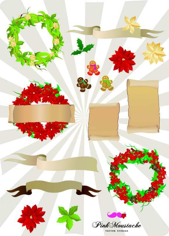 Christmas vector set 2 png