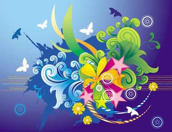 Fashion Floral Design Vector Art png