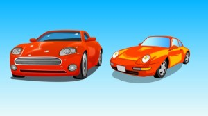 Two Cars Vector Art