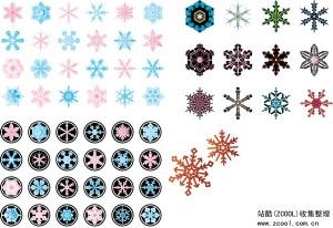 Various Snowflake Vector Art