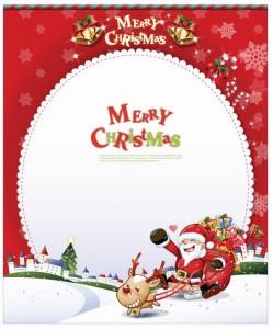 Christmas Card with Santa Claus Vector Art