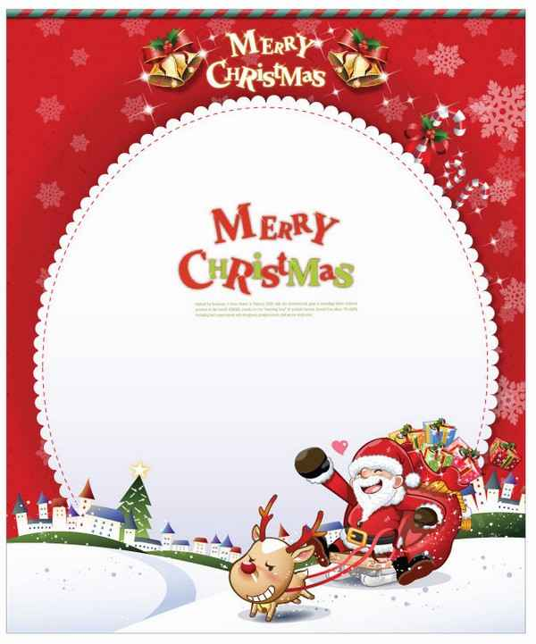 Christmas Card with Santa Claus Vector Art png