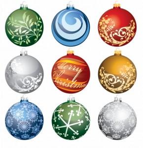 Christmas Ornament Balls Vector Art