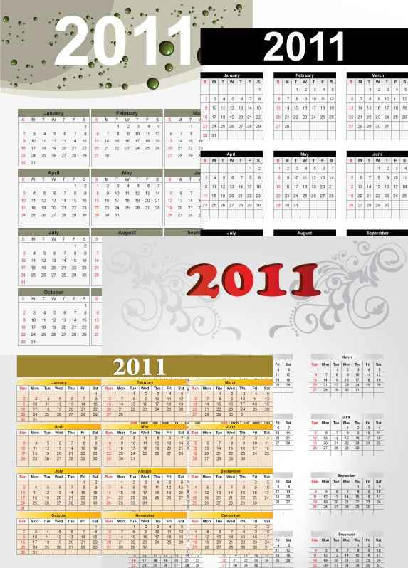 2011 Calendars   EPS/AI File png