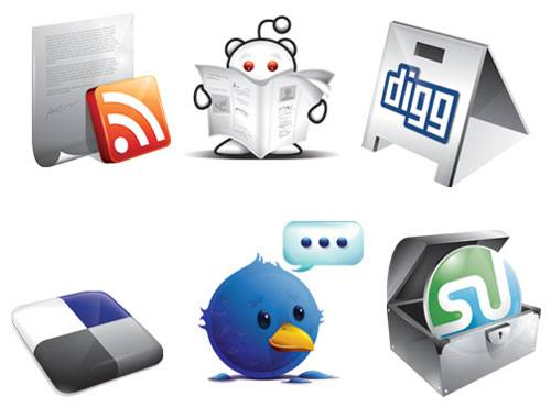 6 Free New Social Icons [AI Format] png