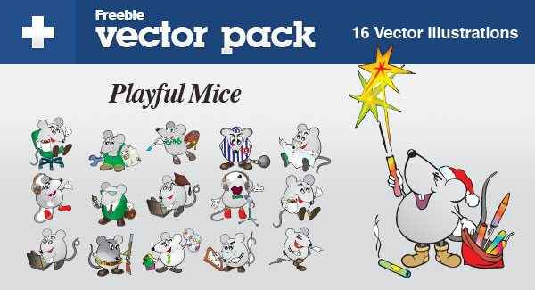 Exclusive Freebie Pack Playful Mice