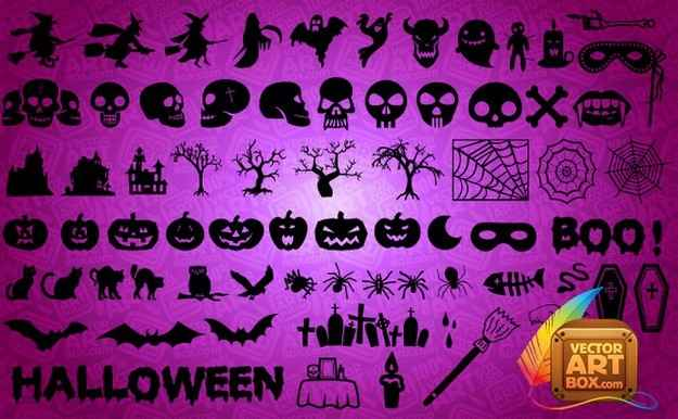 Halloween, Skull Silhouettes png