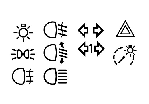 Auto signal signs [EPS File] png