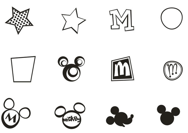 Mickey Mouse Signs [EPS File] png