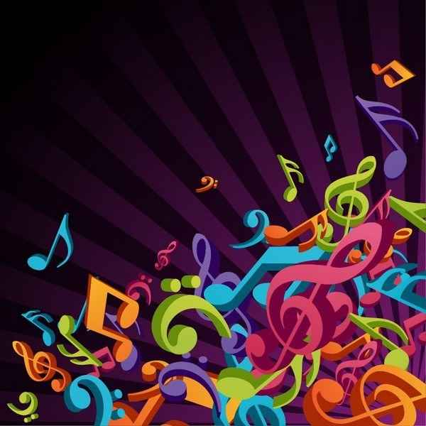 3D Colorful Music Gamut [EPS File] png