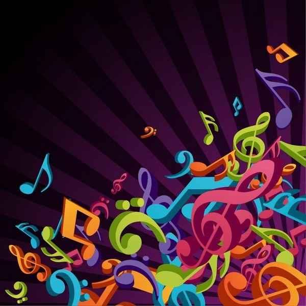 3d colorful music gamut