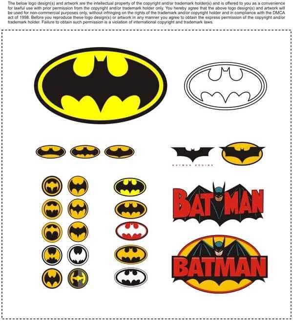 batman logos vector