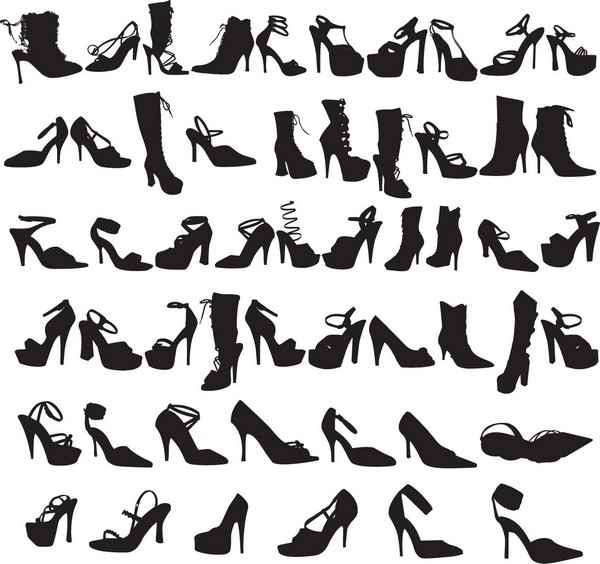 Beauty Fashion Shoes Silhouettes [EPS File] png
