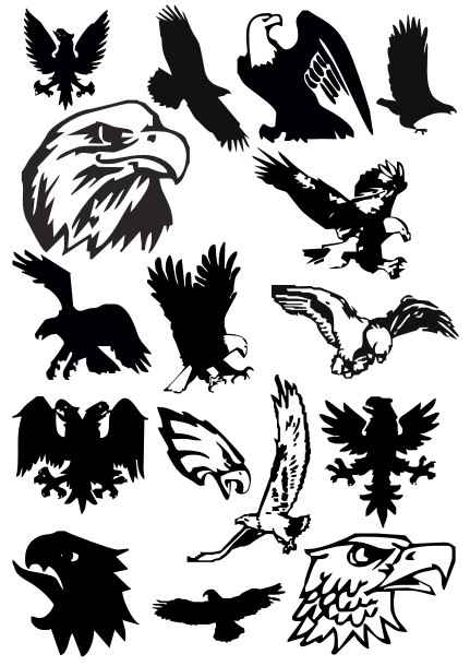 15 eagles  cdr file  vector free download