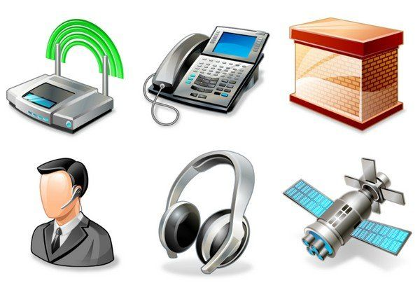 networking icons set vector
