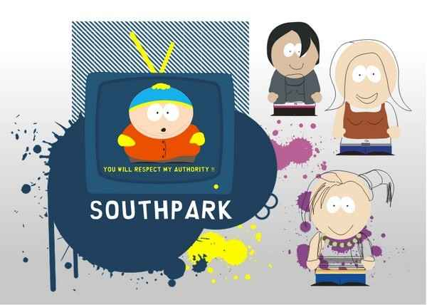 South Park Characters [EPS File] png