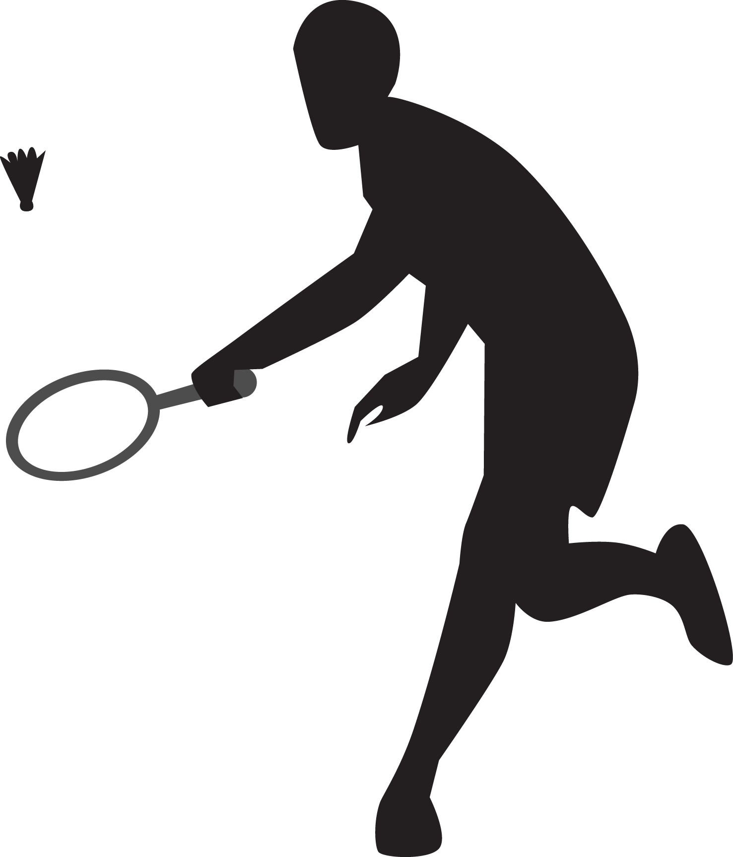 Sportsmen Silhouette Vector Icon Template Clipart Free ...