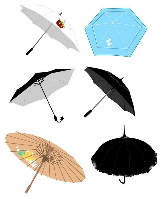 umbrella set vector