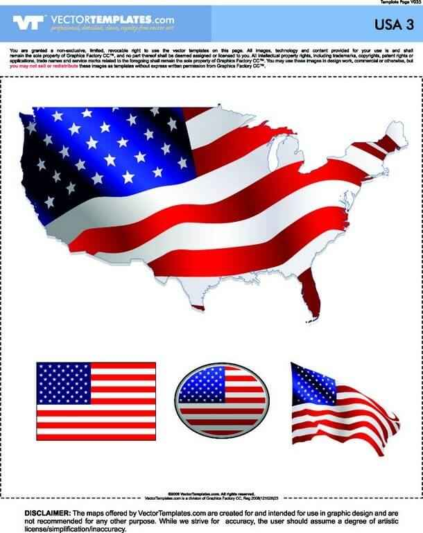 USA Map and Flag [United States] png