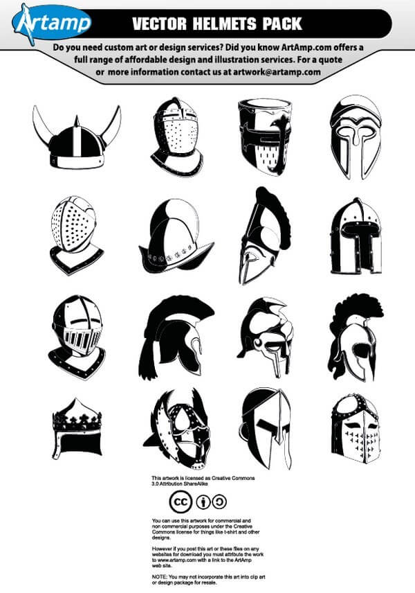 Vector Helmets Pack [AI CDR Files] png