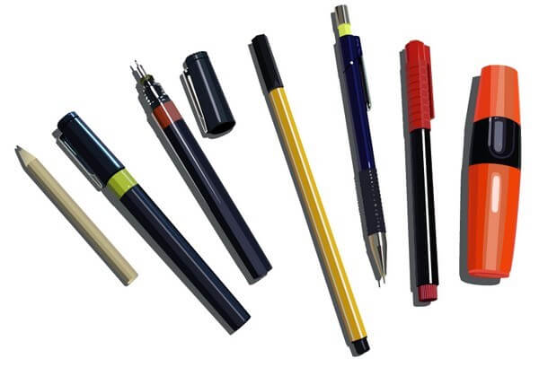 Pens Pencils and Markers [AI,EPS and PDF Files] png