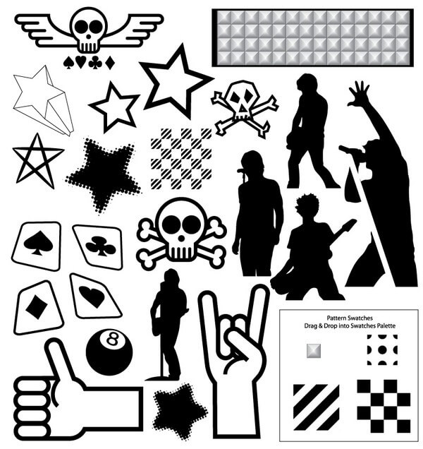Punk Vector Pack [EPS File] png