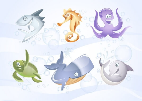 Cute cartoon animals png
