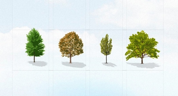 Trees Vector Collection Pack [AI File] png