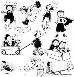 Cartoon Children, Kids, People 01