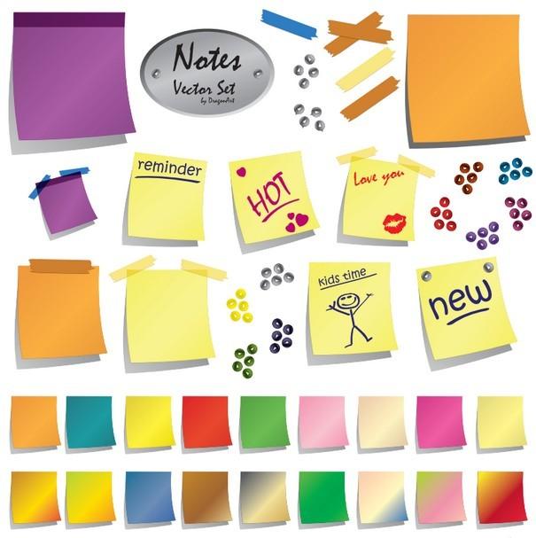 Notes Vector Set [PDF EPS SVG Files] png