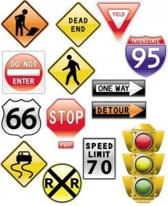 Road Signs Traffic Light [AI File]