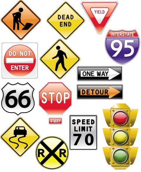 Road Signs Traffic Light [AI File] png
