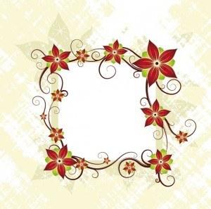 Flower, Frame, Card