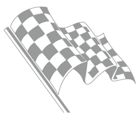 car race flag vector