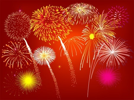 Fireworks Rain [AI File] png
