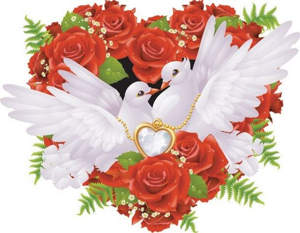 Rose Heart png